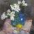Bouteille de fleurs